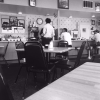 Small Town Cafe at Sinclair Gas Station in Colorado