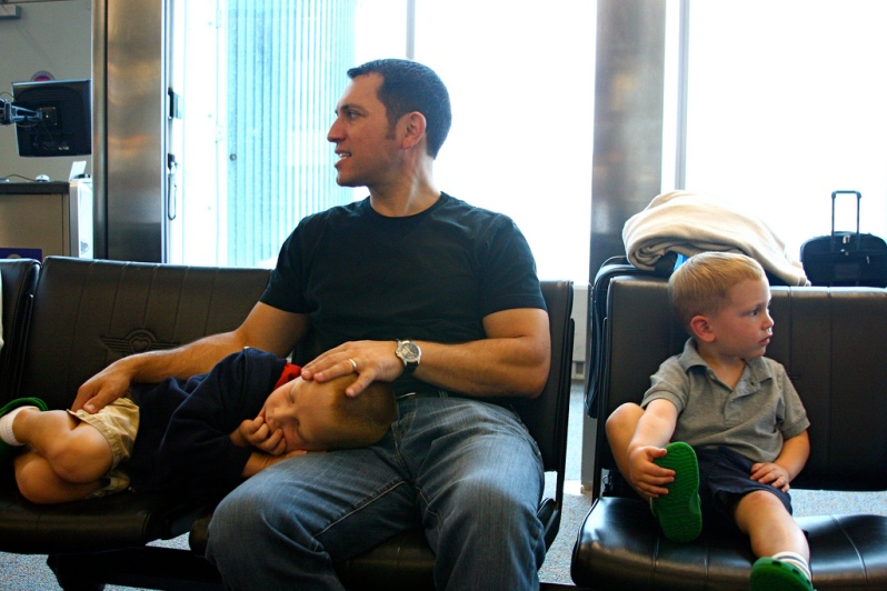 Manchester Airport Waiting Room II by Liz West