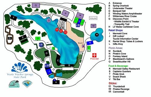 weeki wachee map